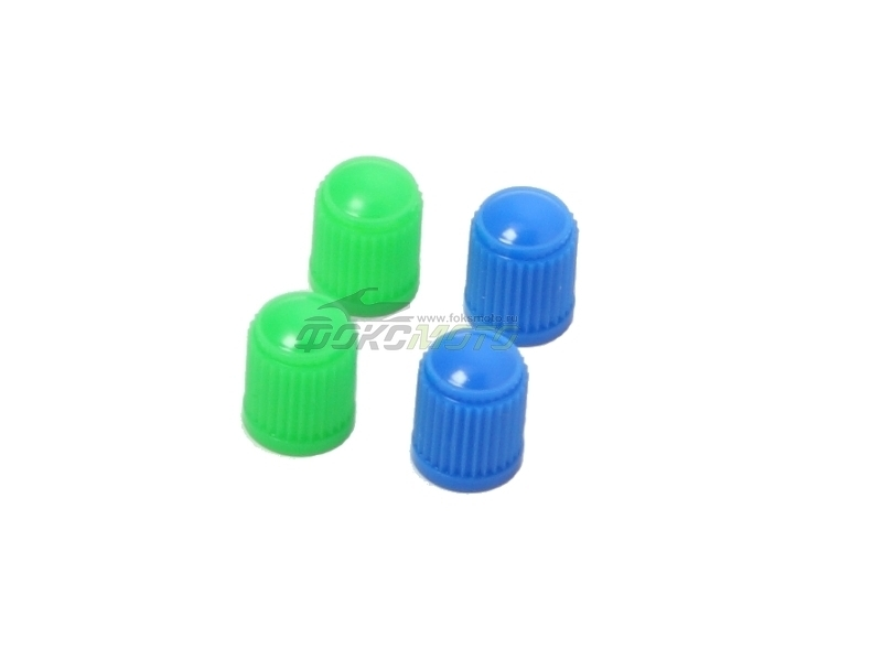 Колпачки пластиковые 4шт Blue/Green D58-03-211