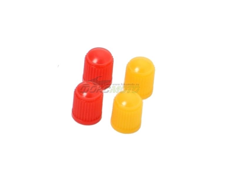 Колпачки пластиковые 4шт Red/Yellow D58-03-212