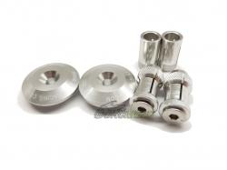 Заглушки в руль 35mm Silver ZE48-7101