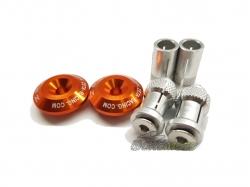 Заглушки в руль 29mm Orange ZE48-7009