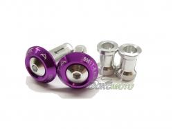 Заглушки в руль 29mm Purple ZE48-7008