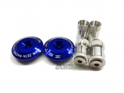 Заглушки в руль 35mm Blue ZE48-7107