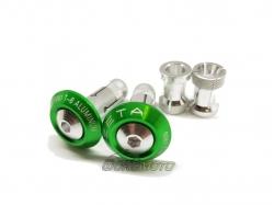 Заглушки в руль 29mm Green ZE48-7002