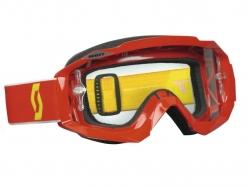 Очки Scott Hustle MX red/clear works 225102-0004113