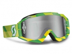 Очки Scott Hustle MX track green/yellow/silver chrome works 237588-4606269