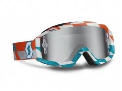 Очки Scott Hustle MX track orange/blue/silver chrome works 237588-4607269