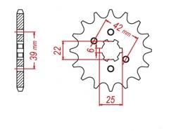 Звезда ведущая DRC 520-14 Honda XL/SL/XR250 '81 D331-519-14 (JTF1265)