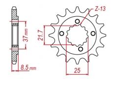 Звезда ведущая DRC 520-14 Honda XR650 '18 D331-527-14 (JTF1309)