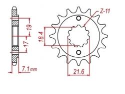 Звезда ведущая DRC 520-13 Honda XR250/Baja; CRF250L D331-521-13 (JTF1321)