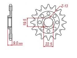 Звезда ведущая DRC 520-13 Suzuki RMZ250 '13-18 D331-524-13 (JTF1442)