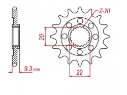 Звезда ведущая DRC 520-13 Kawasaki KX250F '06-18 D331-547-13L (JTF1446)