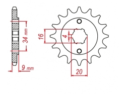 Звезда ведущая DRC 520-13 Yamaha TTR230 '17; DT200 D331-503-13 (JTF1554)