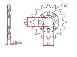 Звезда ведущая DRC 520-13 D331-530-13 (JTF565/JTF1565/JTF436)