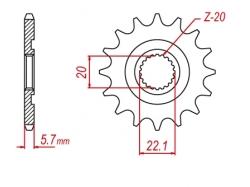 Звезда ведущая DRC 520-13 Yamaha YZ/WR250F'19 D331-548-13L (JTF1590)