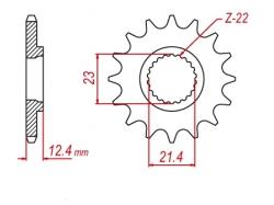 Звезда ведущая DRC 428-14 Yamaha Serrow/XT250 D331-415-14 (JTF1594)