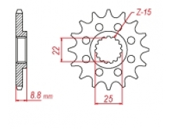 Звезда ведущая DRC 520-13 KTM/Husqvarna D331-537-13 (JTF1901)