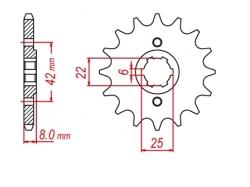 Звезда ведущая DRC 520-13 Honda XL/XR250 '83 D331-518-13 (JTF281)