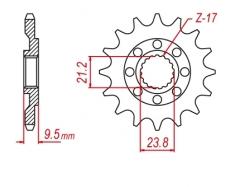 Звезда ведущая DRC 520-13 Honda CR250/CRF450R/X D331-539-13 (JTF284)