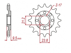 Звезда ведущая DRC 520-13 Honda CRF450R/X D331-539-13L (JTF284)