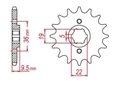 Звезда ведущая DRC 520-14 Honda CR250 '85 D331-511-14 (JTF337)
