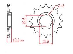 Звезда ведущая DRC 520-13 Suzuki RM/DR/DRZ400 D331-523-13 (JTF432)