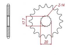 Звезда ведущая DRC 520-13 Yamaha YZ125 '04 D331-535-13 (JTF564)