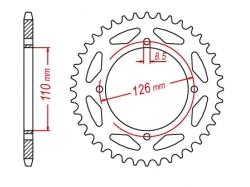 Звезда ведомая DRC 428 Kawasaki KX65/KLX125; Suzuki RM65 D34-25-0.. (JTR1466)