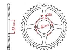 Звезда ведомая DRC R-Sprocket 428 Yamaha TTR125'02-,DT125/200-'87 D34-53-0.. (JTR1843/JTR843)