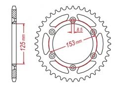 Звезда ведомая алюминиевая M-CAX Honda CRF/CRM/XR (JTR210)
