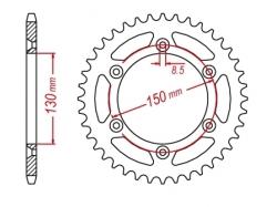Звезда ведомая DRC R-Sprocket 520 Yamaha YZ/YZF'99-,WR; Honda XL/XR250 D34-52-0.. (JTR251/JTR245/2)