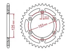 Звезда ведомая DRC 520 Honda CRF250R/L,CRM250R, XR250 D34-03-0.. (JTR301)
