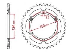 Звезда ведомая DRC 428 Kawasaki KDX125 '99 D34-26-0.. (JTR459)