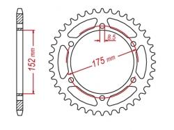 Звезда ведомая DRC R-Sprocket 428 Yamaha TT-RAID,DT125/200'88 D34-54-0.. (JTR839)