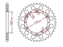 Звезда ведомая DRC R-Sprocket 520 Yamaha YZ125/250 '86-98,DT200WR D34-51-0.. (JTR853)
