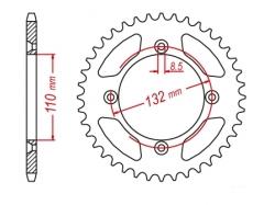 Звезда ведомая DRC R-Sprocket 428 KTM 85SX D34-77-0.. (JTR895)