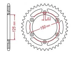 Звезда ведомая DRC R-Sprocket 520 KTM SX-F/EXC/Husaberg FC,FE,FS D34-75-0.. (JTR897)