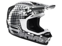 "Мотошлем Shift Riot Helmet Fever Silver ""M"""