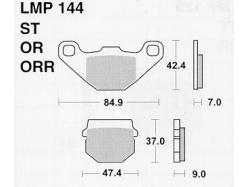 Колодки APRacing LMP144 ST