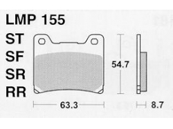 Колодки APRacing LMP155 ST