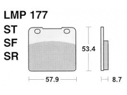 Колодки APRacing LMP177 ST
