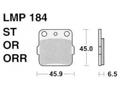 Колодки APRacing LMP184 OR