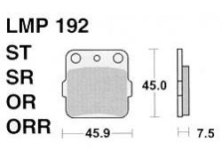 Колодки APRacing LMP192 ST