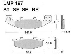 Колодки APRacing LMP197 ST