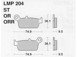 Колодки APRacing LMP204 ORR