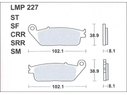 Колодки APRacing LMP227 ST