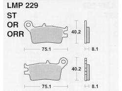 Колодки APRacing LMP229 ST