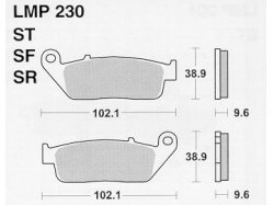 Колодки APRacing LMP230 ST