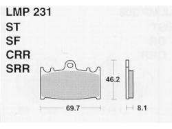 Колодки APRacing LMP231 ST