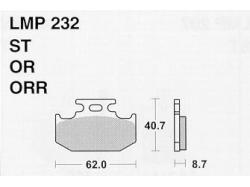 Колодки APRacing LMP232 ST
