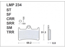 Колодки APRacing LMP234 SM